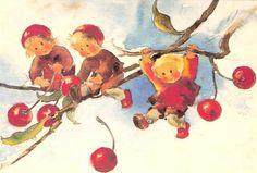 Waldorf Toys - postcards and posters Postcard Art, Flower Fairies, Vintage Children's Books, Christmas Art, Christmas Stuff, Book Of Shadows, Children's Book Illustration, Whimsical Art, Beautiful Artwork