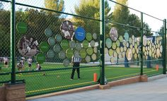 Viewpoint School Athletic Filed donor wall by Villa Design, Los Angeles.