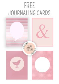 Free 3x4 Pink Journaling Cards from Clear Colours