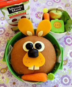 Easter Rabbit Sandwich with turkey & cheese