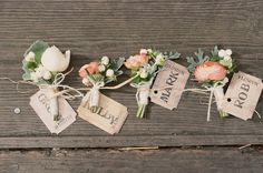 boutineers {The Green Dandelion Floral Design}