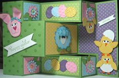 Tri Shutter Card - Easter - full card by julie in ohio - Cards and Paper Crafts at Splitcoaststampers