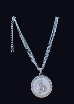 Disney Mickey Mouse Hidden Mickey Necklace Crystal by AOSDESIGN