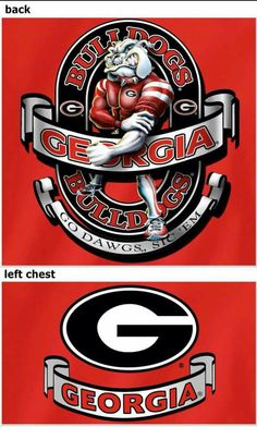 Georgia Bulldog Wreath, Georgia Bulldogs Football, College Football Teams, Football Fans, Football Stuff, Bulldog Wallpaper, Bulldog Mascot, Georgia Girls, Custom Football