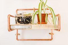 Copper book shelf!