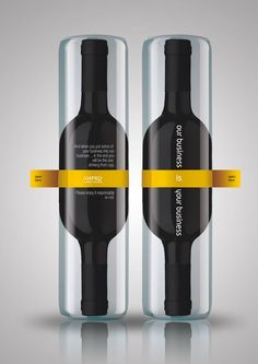 A clever gift given by Romania based design firm Ampro Design to all new clients. This bottle has two necks and two integrated cups.