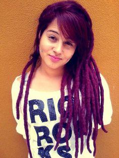 purple dreadlocks//Indie Punk Goddess