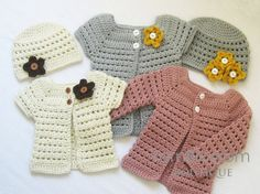 CROCHET PATTERN Toddler Cardigan & Beanie (4 sizes included from 6 months to 5 toddler) Instant Download on Etsy, $4.99