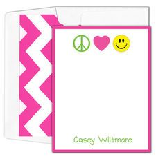 Peace Love Smile Flat Note Cards