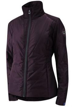 Pretty in Plum   Irideon Crossrail Quilted Jacket