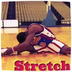 Stretch!  Important to do before and after every workout.