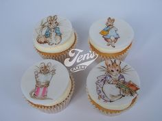 Hand painted Beatrix Potter Cupcakes | Flickr - Photo Sharing!