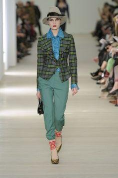 Plaid trend for Winter: Vivienne Westwood Mykonos Blue, Strike A Pose, Pantone Color, Famous Faces, Vivienne Westwood, Designer Collection, Couture Fashion, High Fashion, Ready To Wear
