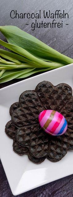 Glutenfreie Waffeln - Charcoal Waffeln Gluten Free Cooking, Easter Activities, Easy Meals, Recipies