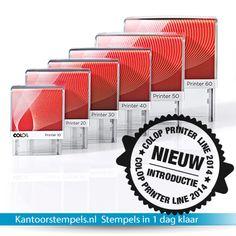 Printer Line 2014 Colop. De complete stempel serie van Colop. Geheel nieuw ontwerp. Binnenkort verkrijgbaar bij kantoorstempels.nl