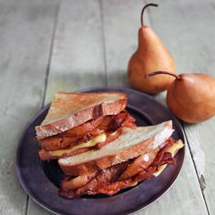 Grilled Cheese with Bacon and Caramelized Pear