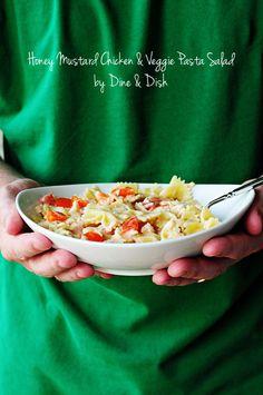 Pasta salad done right - Honey Mustard Chicken & Veggie Pasta Salad