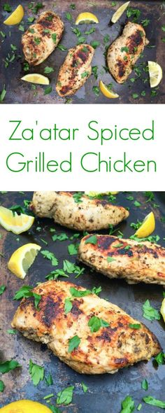Za'atar Spiced Grilled Chicken Breasts from The Lemon Bowl