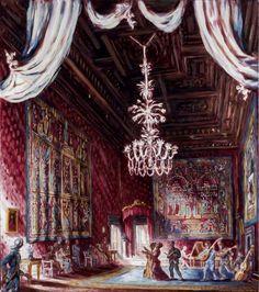 Farnese Palace (Rome); The Salon Rouge; oil on canva; 90x80 cm; Philippe Casanova 2017