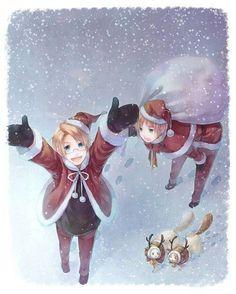 Hetalia - Alfred F. Jones ☆ United States of America ~ Christmas