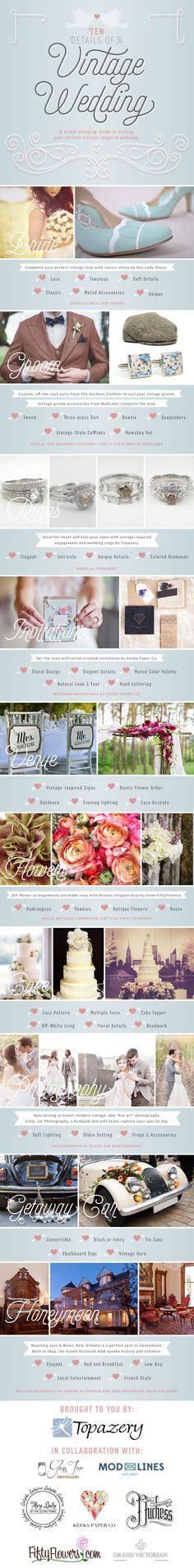 Ten Details of a Vintage #Wedding   Topazery http://www.topazery.com/antique-jewelry-blog-entry/Ten-Details-of-a-Vintage-Wedding/