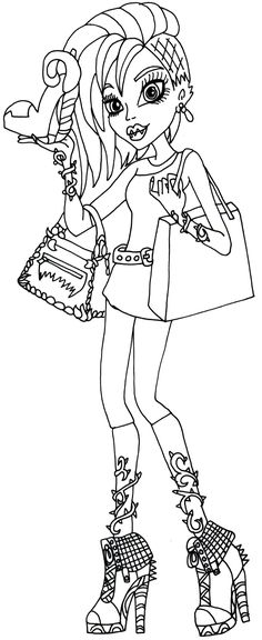 monster high free printables | Venus McFlytrap I love fashion Monster High Coloring Page
