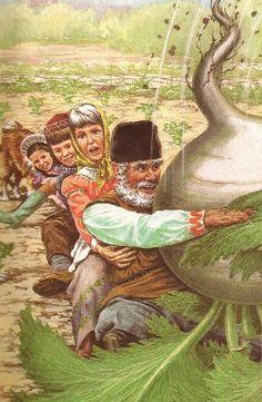 The Enormous Turnip Phew! This turnip had better be worth it! Tales Series, Ladybird Books, Fairy Tales, Childhood, Vintage Illustrations, Grande, Russia, Kindergarten, Preschool