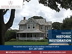 Quogue Historic Restoration - Traditional, New York Mid-sized elegant home design Contact us by sending a message on whatsapp and we will contact you 631.287.0891 #alexim #aleximbuilders #homedesign #homedecor #interiordesign #design #home #interior #architecture #decor #homesweethome #interiors #decoration #furniture #interiordesigner #luxury #homestyle #homedecoration #interiordecor #inspiration #interiorstyling #designer #livingroom #homeinspiration Hamptons New York, Hamptons House, Interior Styling, Interior Decorating, Interior Design, Custom Home Builders, Custom Homes, Home Developers, New Home Construction