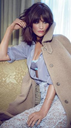 Helena Christensen ♥ light grey and beige gorgeous colours!