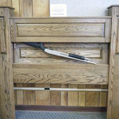 hidden gun storage corner cabinet