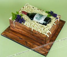 Wine bottle cake | Flickr - Photo Sharing!