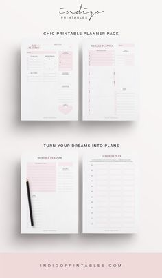 Pink Planner Pack, 9 Printable Pages | Created by #IndigoPrintables  A Little Pink Planner Pack is just the thing you need for a fresh start. This printable kit contains everything you need to get you started. A Daily, Weekly, Monthly and 12 Month Planner. Along with a To Do List and Notes page and three stunning Planner Quotes.  These planner pages are Monday Start. This printable planner has been designed to look elegant and sleek; and to function beautifully in your planner with enough…