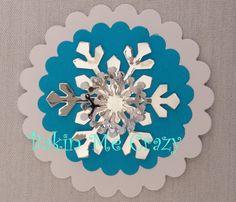 12 x 5 Layer 3D Large Snowflake decorations by BakinMeCrazy, $12.00
