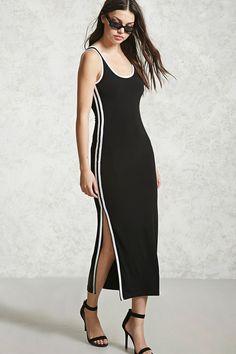 Contrast Trim Jersey Dress