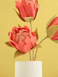 How to make the most gorgeous felt protea flowers!