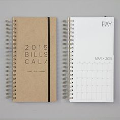 PREORDER. DATED bills calendar por REDSTARink en Etsy