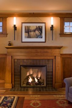 Unique Ideas Can Change Your Life: Fireplace With Tv Above Built Ins farmhouse fireplace families.Old Fireplace Painting large fireplace small spaces.Old Fireplace Painting. Craftsman Fireplace Mantels, Home Fireplace, Fireplace Surrounds, Fireplace Design, Fireplaces, Tiled Fireplace, Simple Fireplace, Fireplace Windows, Classic Fireplace