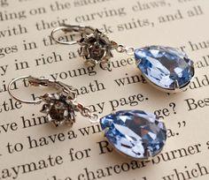 Lavender Swarovski Crystal Rhinestone Earrings