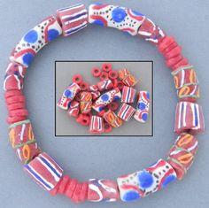mix 38: rode en roze kralen om zelf te verwerken of voor de armband zoals afgebeeld.