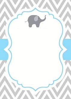 best Ideas for baby shower invitacin card products Baby Shower Parties, Baby Shower Themes, Baby Boy Shower, Baby Shower Decorations, Imprimibles Baby Shower, Baby Shower Invitaciones, Elephant Baby Showers, Baby Elephant, Invitation Baby Shower