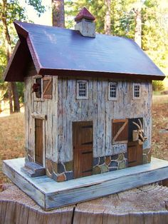 Original Folk Art Birdhouses by Gary Anawalt