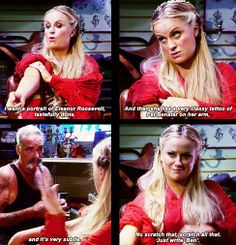 Leslie Knope choosing her tattoo ~ Parks and Recreation
