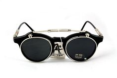 These are wicked!!  Steampunk Gothic flip up Sunglasses Hi Tek London by hitekdesigns