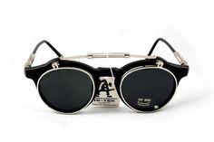 Steampunk Gothic flip up Sunglasses Hi Tek London by hitekdesigns, $200.00