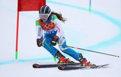 DAY 12:  Kseniya Grigoreva of Uzbekistan competes during the Alpine Skiing Women's Giant Slalom http://sports.yahoo.com/olympics