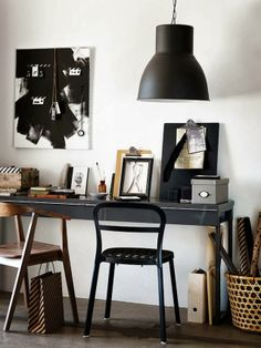 Ikea office- french by design Home Office Design, Home Office Decor, Ikea Office, Home Office Space, Office Workspace, House Design, Study Office, Home Decor, Mad About The House