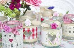 wedding flowers in jam jars - Google Search