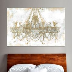 Oliver Gal Oliver Gal Gold Diamonds Graphic Art on Canvas