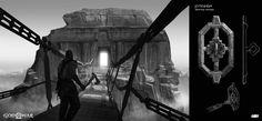The End Game, God Of War, Doorway, Knock Knock, Thor, Jin, Artist, Artwork, Gaming