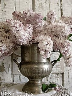 old silver and lilacs...